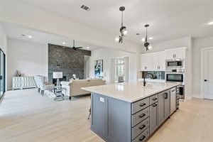 Hip modern one story hill country home from Garabedian Properties Custom Home Builders in Argyle Texas